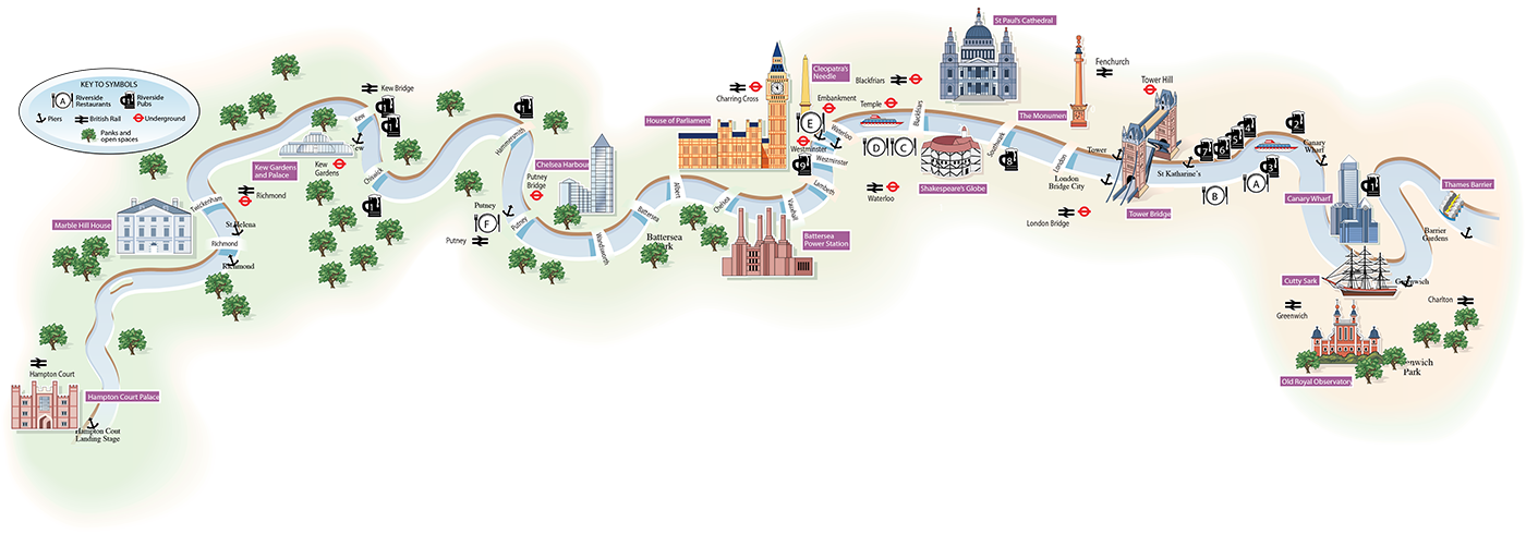 London Thames Map  Moreno